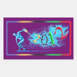 2012 Años Nuevos de los deportes del atletismo del Pegatina Rectangular