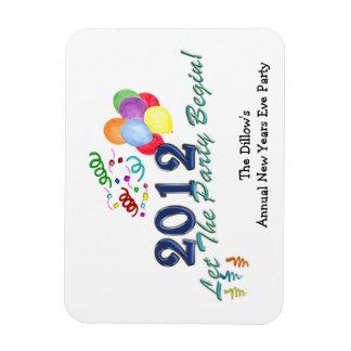 2012 Años Nuevos del fiesta del imán de plantilla