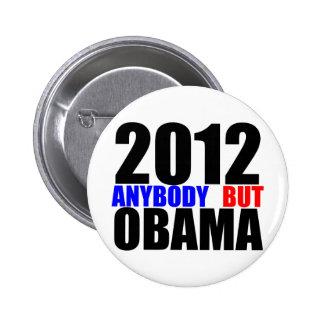 2012: Anybody But Obama Pinback Button