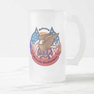 2012 Arizona for Michele Bachmann Frosted Glass Beer Mug