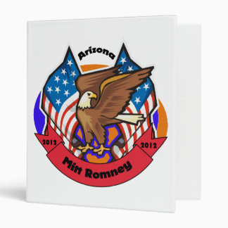 2012 Arizona for Mitt Romney 3 Ring Binder