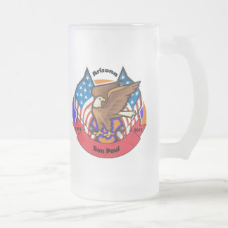 2012 Arizona for Ron Paul Frosted Glass Beer Mug