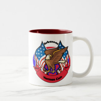 2012 Arkansas for Herman Cain Two-Tone Coffee Mug