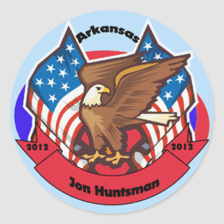 2012 Arkansas for Jon Huntsman Classic Round Sticker