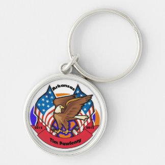 2012 Arkansas for Tim Pawlenty Silver-Colored Round Keychain