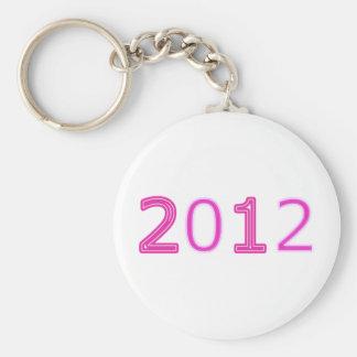 2012 artículos rosados llavero redondo tipo pin