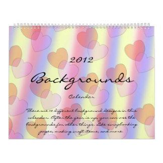2012 Background Calendar 1