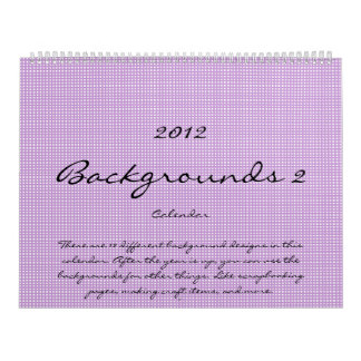 2012 Background Calendar 2