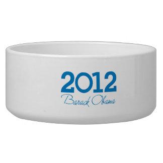 2012 - Barack Obama blue Dog Bowls