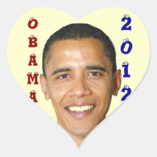 2012 BARACK OBAMA_ HEART STICKER