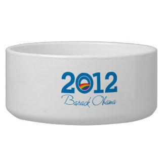 2012 - Barack Obama Pride Dog Water Bowls