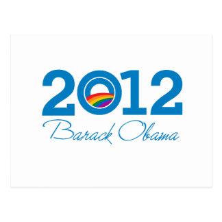 2012 - Barack Obama Pride Postcard