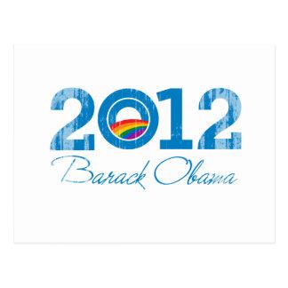 2012 - Barack Obama Pride Vintage.png Postcard