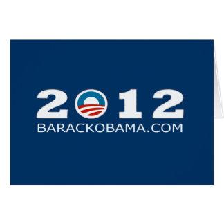 2012 Barack Obama Re-election Design Card