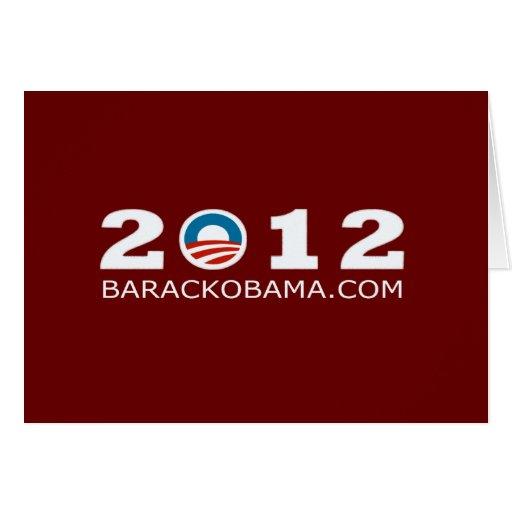 2012 Barack Obama Re-election Design Greeting Card