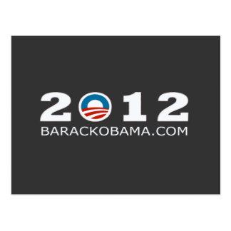 2012 Barack Obama Re-election Design Postcard