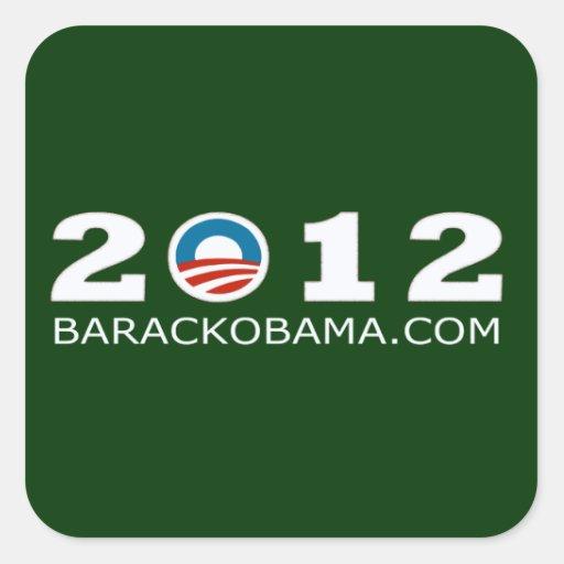 2012 Barack Obama Re-election Design Square Sticker