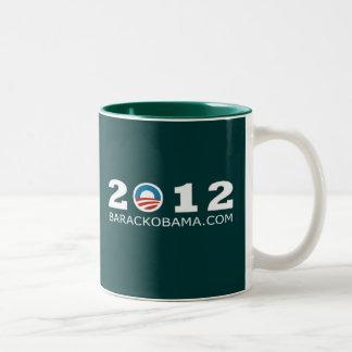 2012 Barack Obama Re-election Design Two-Tone Coffee Mug