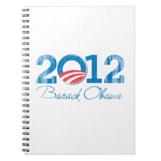2012---BARACK OBAMA-- Vintage.png Cuaderno