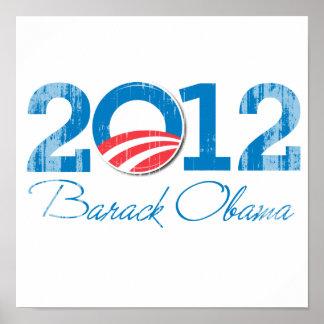 2012 - Barack Obama - Vintage png Poster