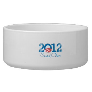 2012---BARACK-OBAMA-- Vintage.png Pet Water Bowl
