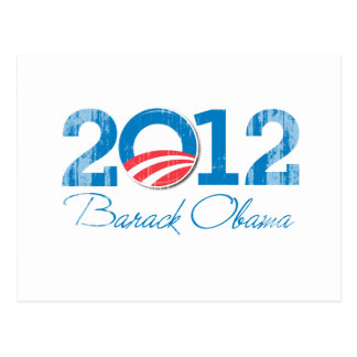 2012 - Barack Obama - Vintage.png Postcard