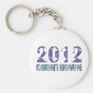2012 BASIC ROUND BUTTON KEYCHAIN
