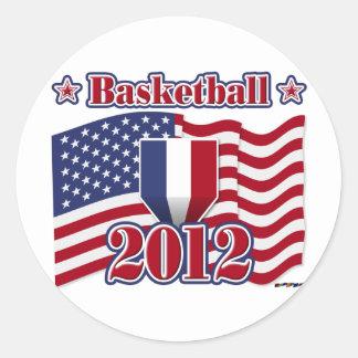 2012 Basketball Classic Round Sticker