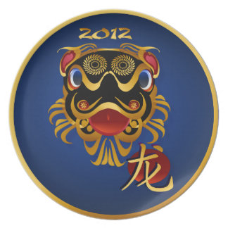 2012 Black 'n Gold Chinese Dragon Face Plates