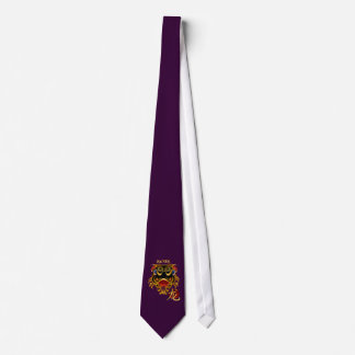 2012 Black 'n Gold Chinese Dragon Face Tie