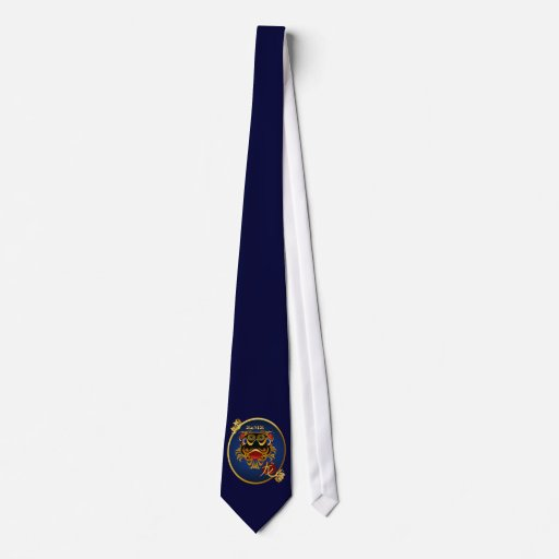 2012 Black 'n Gold Chinese Dragon FaceOval Tie