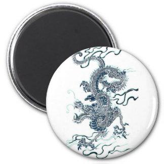 2012 Black Water Dragon Fridge Magnet