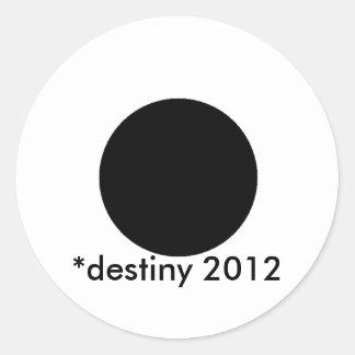 2012 BlackcSqCircleTrans-3 *destiny Etiquetas Redondas