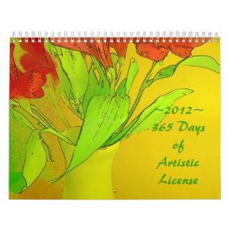 2012 Calendar - 365 Days of Artistic License