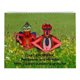 2012 Calendar - Betelgeuse and Mintaka calendar