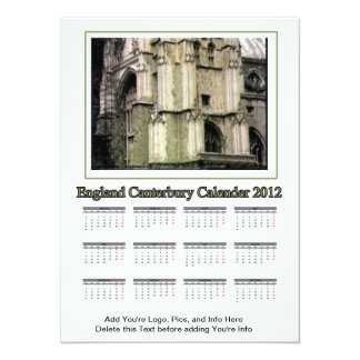 2012 Calendar England Canterbury The MUSEUM Zazzle Card
