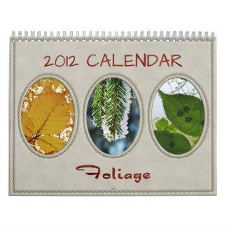 2012 Calendar: Foliage Calendar