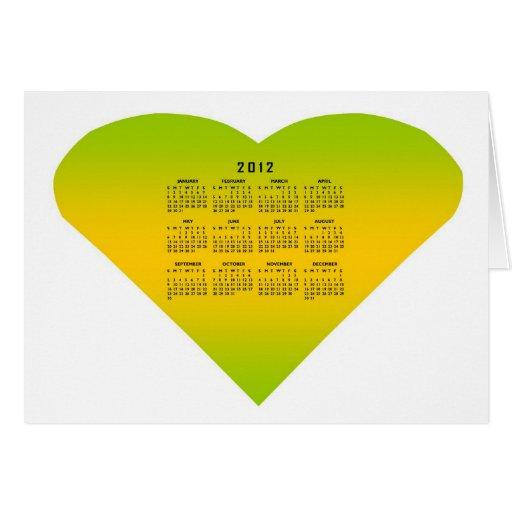 2012 Calendar Greeting Card