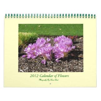 2012 Calendar of Flowers