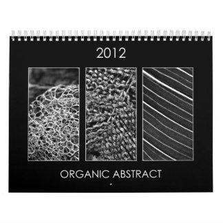 2012 Calendar - Organic abstract