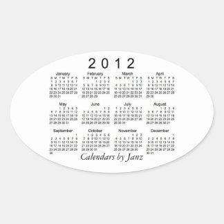 2012 Calendar Oval Sticker