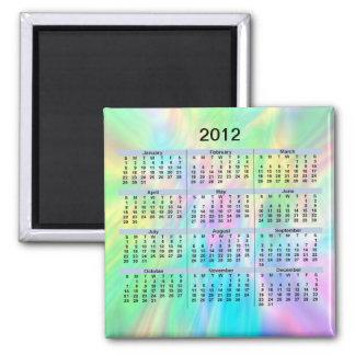 2012 Calendar Pastel Magnet