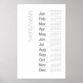 2012 Calendar Poster - Helvetica Grid System
