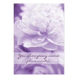2012 Calendar - Purple Peony Business Card