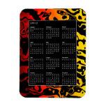2012 Calendar Swirl Rectangular Magnets