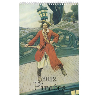 2012 Calendar Vintage Pirates
