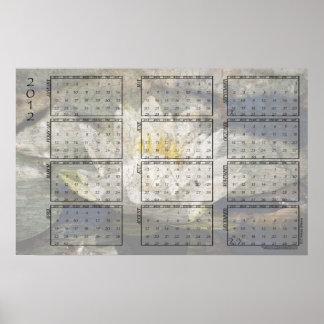 2012 calendario del poster - lirio de agua