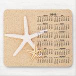 2012 calendario - estrellas de mar Mousepad Tapete De Ratón