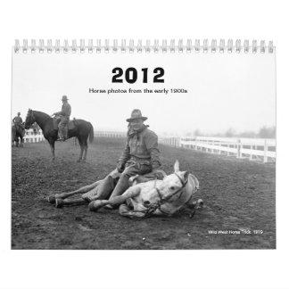 2012 calendario - fotos tempranas del caballo de