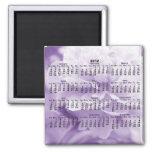 2012 calendario - imán púrpura del calendario del